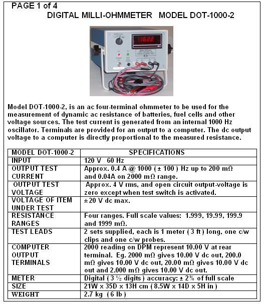 AC & DC Ohmmeters | Digital, Transformer, Micro Ohmmeters
