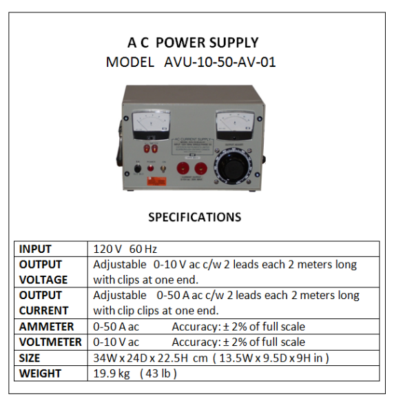 AC Power Supplies (High Current) | Criterion Instruments